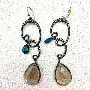 Alexis Bittar Quartz, Crystal, Turquoise Earrings